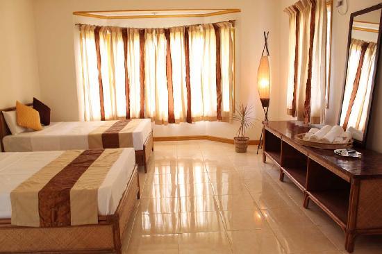 Palms Cove Bohol: ヴィラ・ベッドルーム