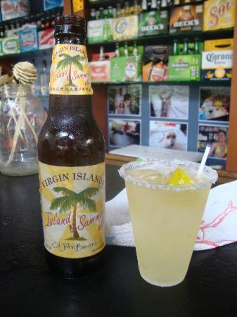 Beuchert's Beer Garden : The drinks we got, Husband got a local beer & I had a Margarita. They were DELICIOUS!!!!!!