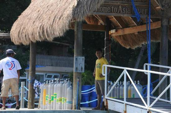 El Galleon Beach Resort & Hotel: Asia Divers Jetty