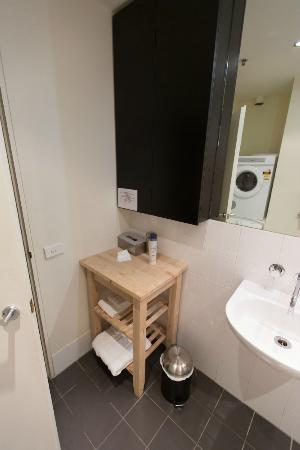 About Melbourne Apartments: toiletries area