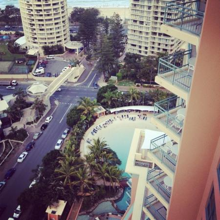 Mantra Crown Towers: we could see the beach and our pool from our balcony