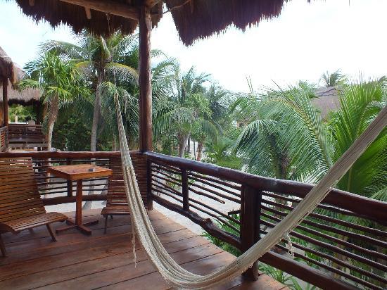 Hip Hotel Tulum: amaca in terrazza