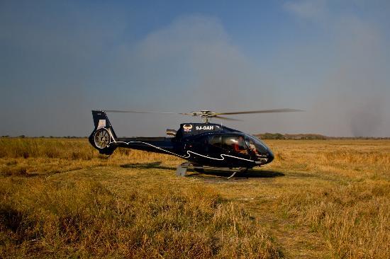 Wilderness Safaris Busanga Bush Camp: The only way to arrive!