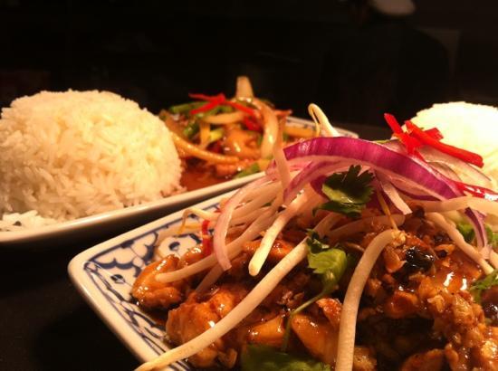 Little Thai Restaurant: Bangkok chicken & pork ginger at lunch for Little thai . Doesn't get much better then this !