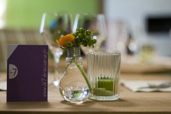 restaurant brasserie le 7 : Détail table - Photo - Jérôme Paressant