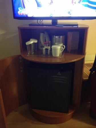 Hilton Rome Airport Hotel: TV/coffee/mini bar
