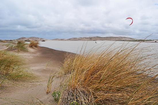 Claromeco, Argentina: all the line of beach has dunes and hidden lagoons, like this.
