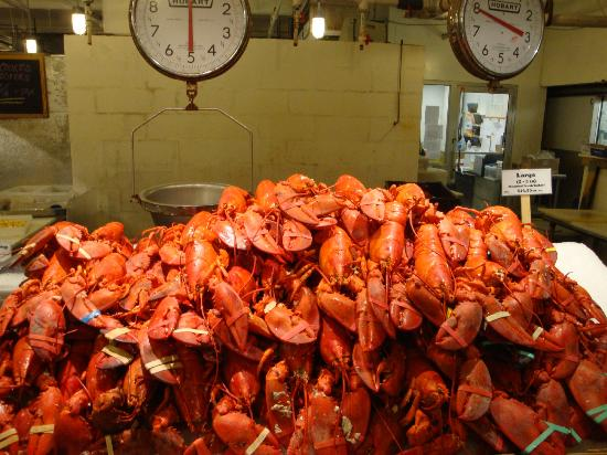 Picture of the lobster place new york city for Fish market restaurant nyc