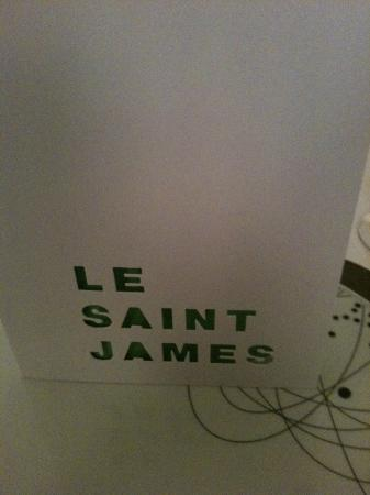 Restaurant Le Saint-James Relais & Chateaux: menu