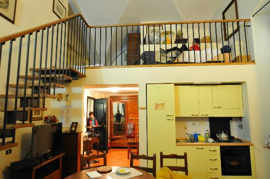 Residence La Contessina: Bedroom loft includes king size + single bed (optional); very quiet rooms, with kitchen incl