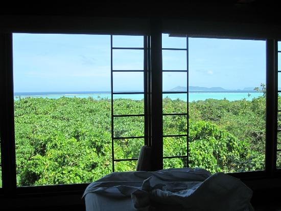 Amanpulo: View from the Spa treatment room
