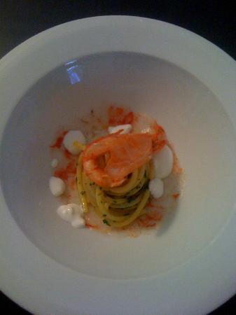 officina cucina spaghetti e gamberi rossi