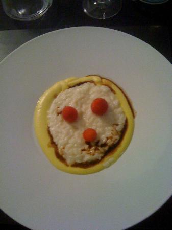 officina cucina risotto alla parmigiana lamponi e aceto balsamico