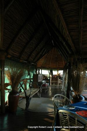 Kikoti Safari Camp: The walkway between the bar/lounge area and the dinning area.