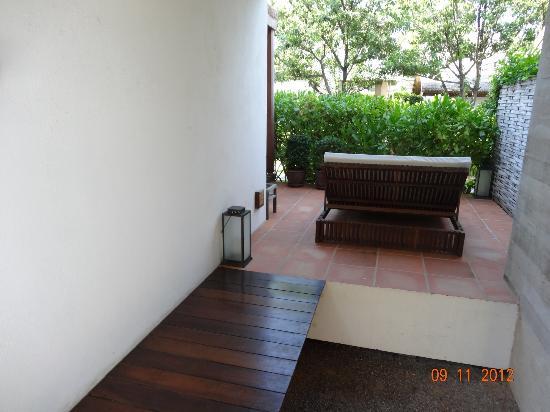 Putahracsa Hua Hin: Room 406 deck