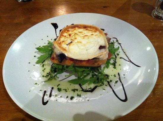 The Gate Bistro: Goats cheese, mushrooms and tomato starter