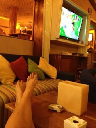 Hippos Marina Lounge: Me relaxing enjoying the atmosphere