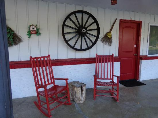 A Holiday Motel: Rocking Chairs in front of each room