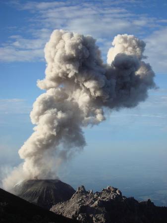 Santa Maria Volcano: 9) sieben Minuten später
