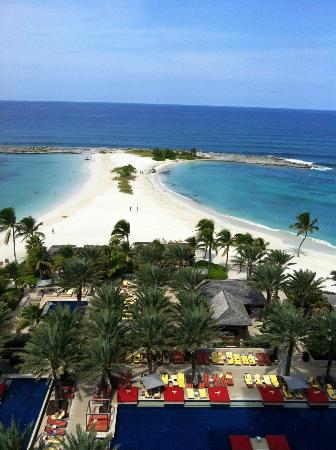 The Reef Atlantis, Autograph Collection: View from the Cove of their private pool and beach beyond