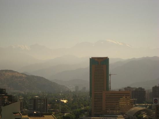 Hotel Santiago: The Andes from the club lounge