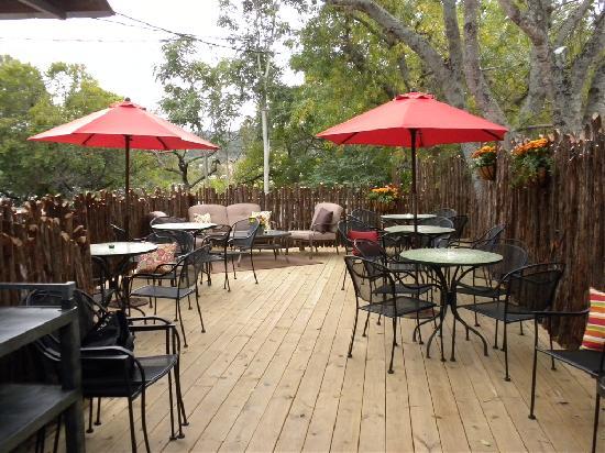 Grape Juice: Outdoor seating