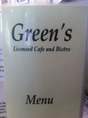 Greens Cafe & Bistro: ....