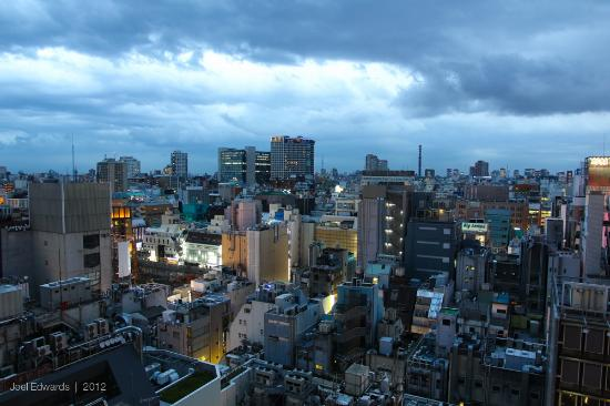 Shinjuku Prince Hotel: View from our twin room on the 14th floor