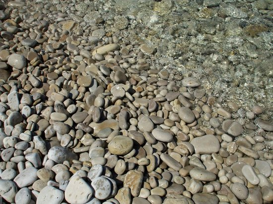 Washington Island, WI: Rocks at Schoolhouse Beach