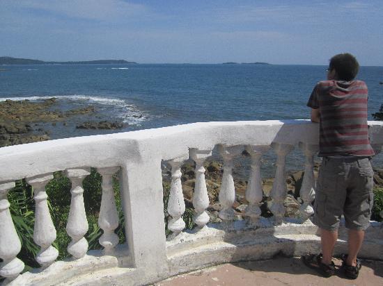 Roume, Guinea: The balcony of Villa Elijah
