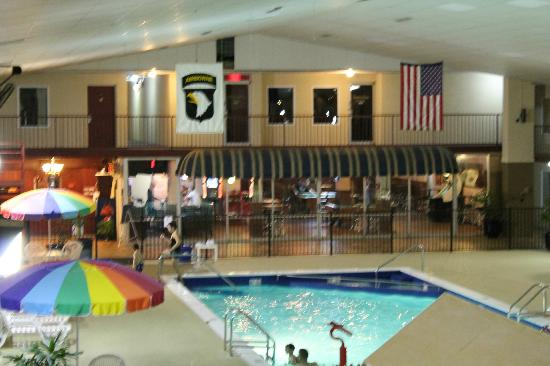 Westgate Inn & Suites : Pool and view to bar.