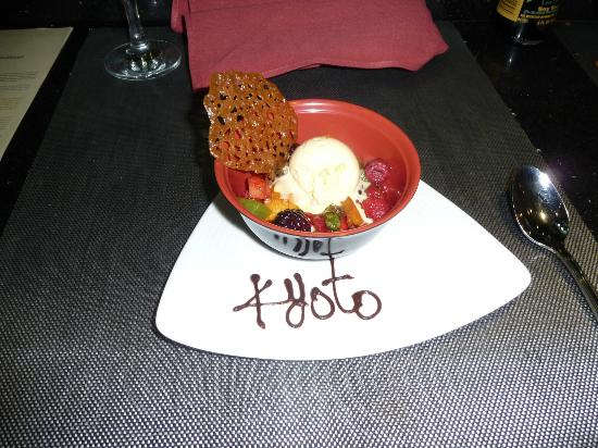 Barcelo Maya Palace: dessert at Kyoto