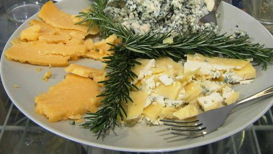 Oasis Eatery : artisan cheese from WI, and one from Oregon!