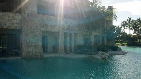 Sanctuary Cap Cana by AlSol: View of our room from grass