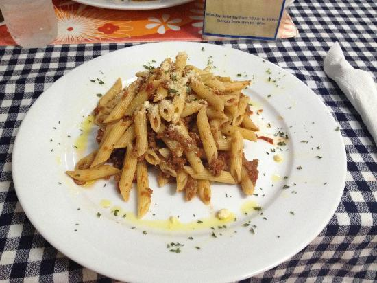 The Italian Job: penne with bolognese sauce