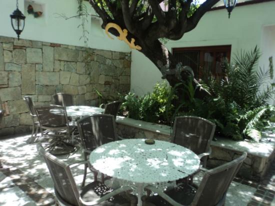 Hotel Las Mariposas: Patio trasero
