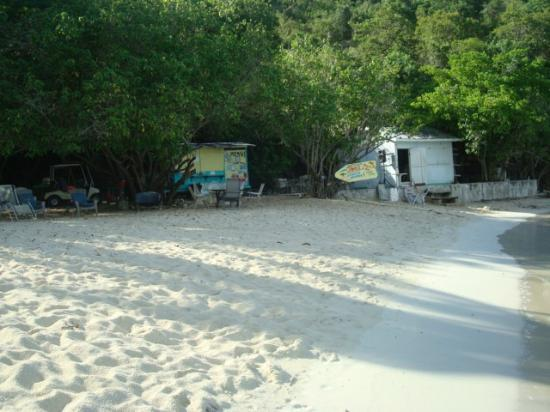 Virgin Islands Campground: JOE'S BEACH BAR HOMEYMOON BEACH