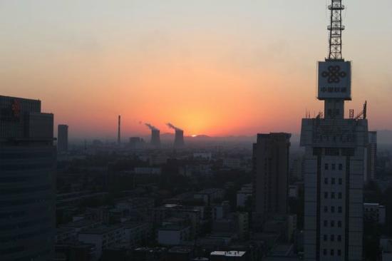 Zhong Yin Hotel: 部屋から見た夕焼け