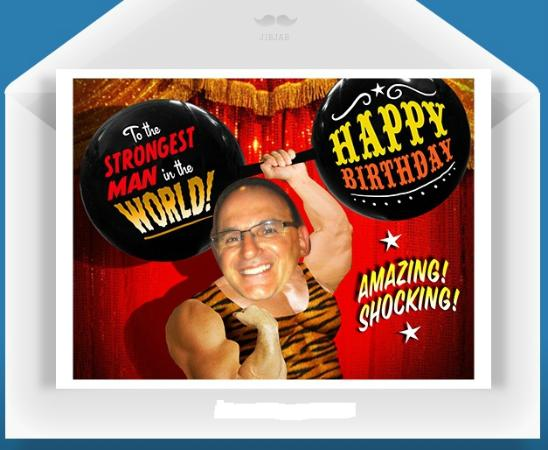Quo Vadis: John turned 50 this year!  This was his birthday card!
