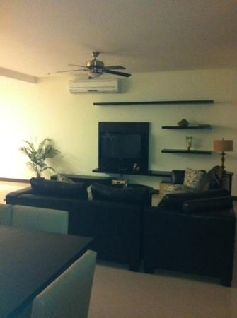 Oasis12: one of the two bedroom condos living room amazing!!