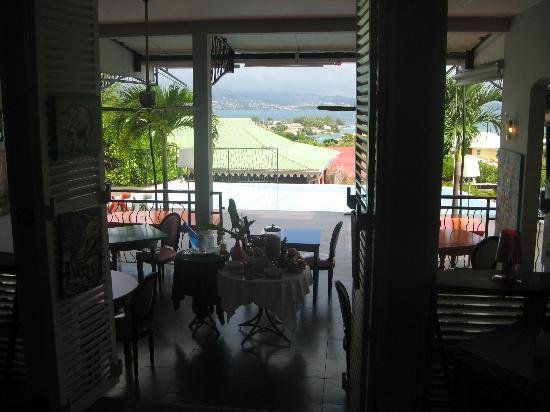 La Suite Villa : vue sur le restaurant