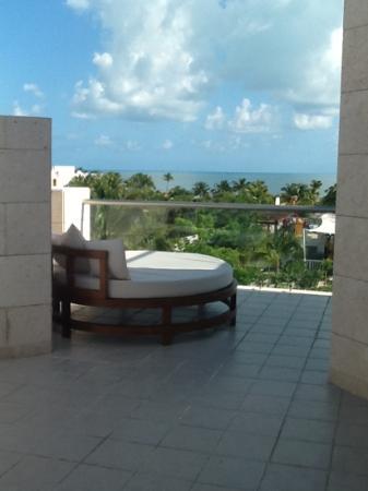 Beloved Playa Mujeres: vu de la suite 120 bloc 1. preferez le bloc 3 plus ensoleillee donc piscine plus chaude