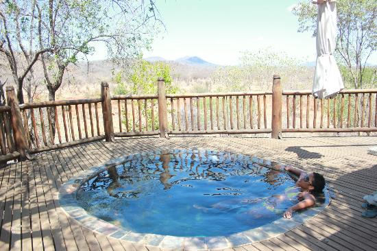 Etali Safari Lodge: View from your own private heated plunge pool