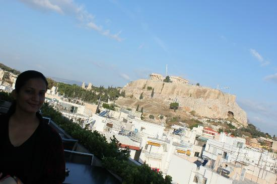 The Athens Gate Hotel: Acropolis from the roof top
