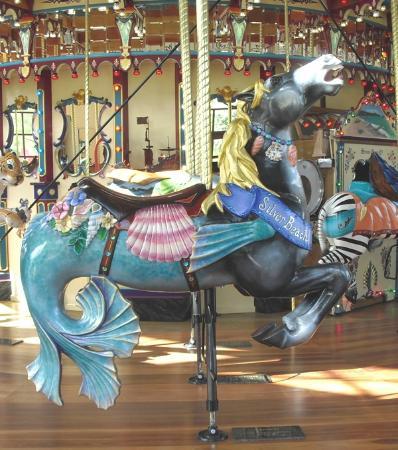 Silver Beach Carousel: HIppocampus