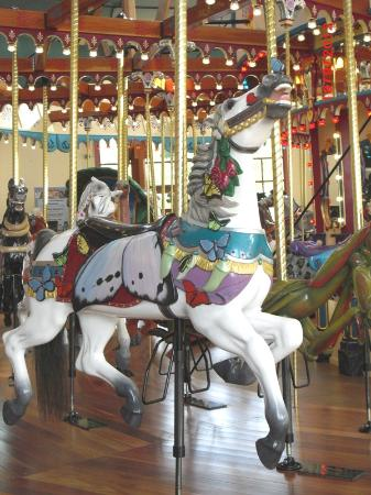 Silver Beach Carousel: Butterfly Horse