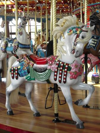 Silver Beach Carousel : Noel the Christmas Horse