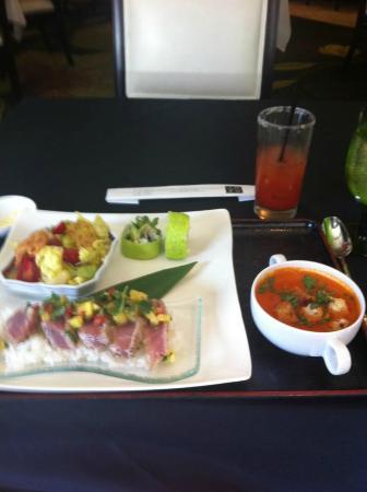 a lunch set at Anzu