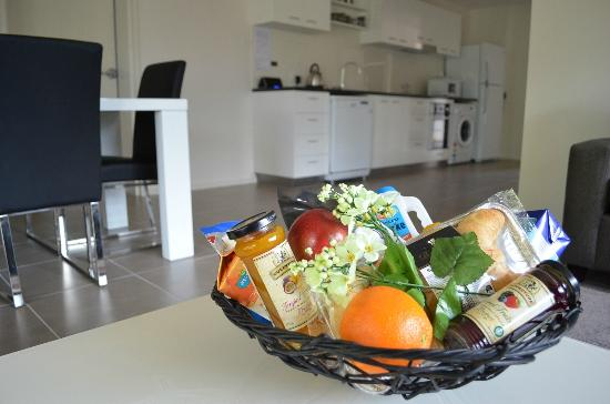 Apex Park Holiday Apartments: Breakfast Hampers Available
