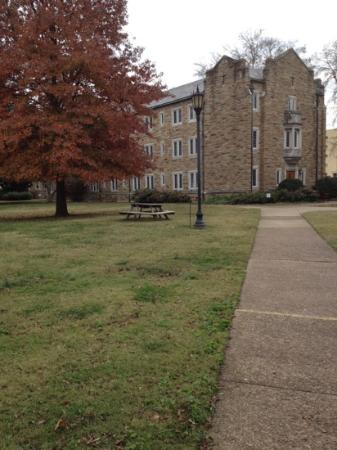 Scarritt-Bennett Center : grounds in fall